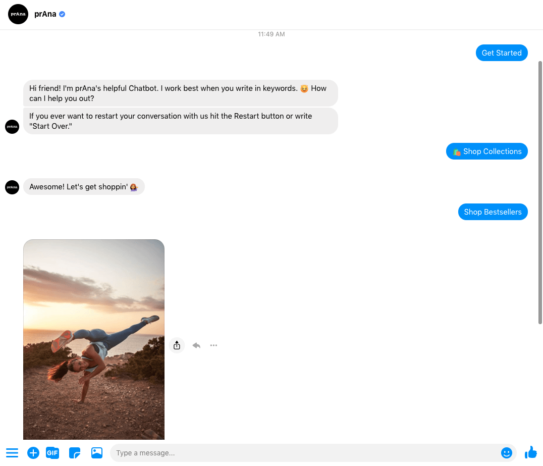 Facebook chatbot marketing for ecommerce
