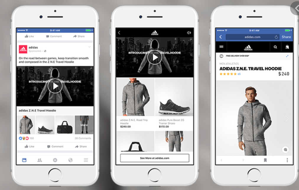 facebook ads for ecommerce examples